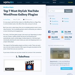 WordPress YouTube Gallery Plugin Options: 10 Creative Solutions