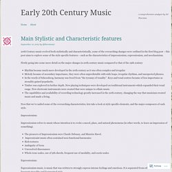 Early 20th Century Music