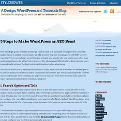 5 Steps to Make Wordpress an SEO Beast
