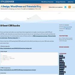 10 best CSS hacks
