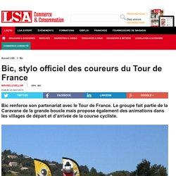 Bic, stylo officiel des coureurs du Tour de France