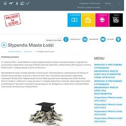 Stypendia Miasta Łodzi