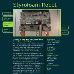 Styrofoam Robot // Jonas Pfeil