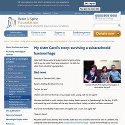 My sister Carol's story