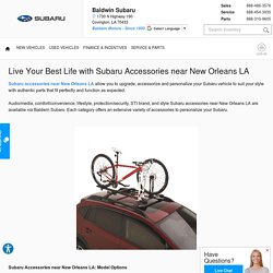 Live Your Best Life with Subaru Accessories near New Orleans LA