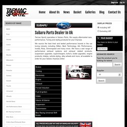 Subaru Parts Dealer In Uk