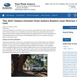 The 2017 Subaru Forester from Subaru Dealers near Monroe: Built to Last