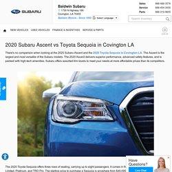 2020 Subaru Ascent vs Toyota Sequoia in Covington LA