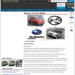 Subaru's Six-Star Badge