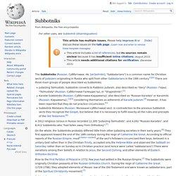Subbotniks - Wikipedia