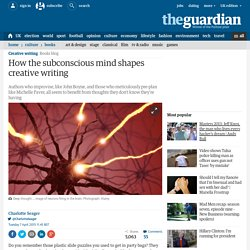 How the subconscious mind shapes creative writing