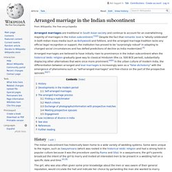 Arranged marriage in the Indian subcontinent - Wikipedia