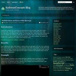 » Subdivision surfaces with three.js KadrmasConcepts Blog