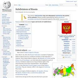 Subdivisions of Russia