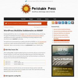 WordPress MultiSite Subdomains on MAMP