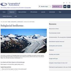 Subglacial bedforms