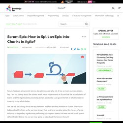 Here's what Subject experts say about an Epic in Agile