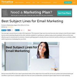 Best Subject Lines for Email Marketing