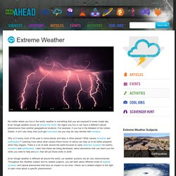 Subjects - Extreme Weather