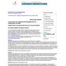 Los procesos de subjetivación-desubjetivación en instituciones cerradas