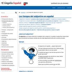 Tiempos del subjuntivo en español – Gramática española