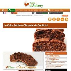 Le Cake Sublime Chocolat de Conticini