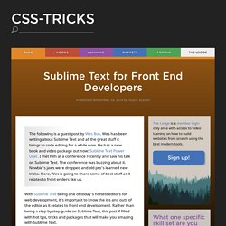 Sublime Text for Front End Developers