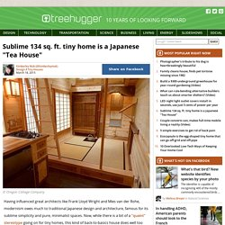 "Sublime 134 sq. ft. tiny home is a Japanese ""Tea House"""