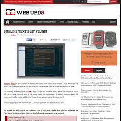 Sublime Text 2 GIT Plugin