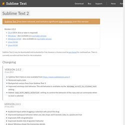 Sublime Text - Download