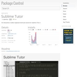 Sublime Tutor