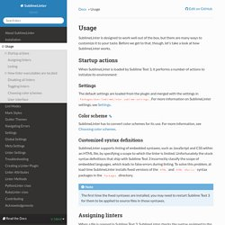Usage — SublimeLinter 3.4.24 documentation