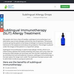 Sublingual Allergy Drops in Texas
