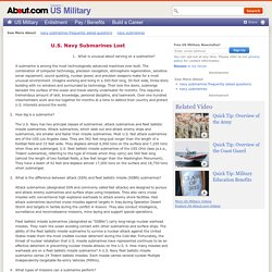 U.S. Navy Submarines Frequently Asked Questions