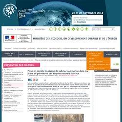Prise en compte du risque de submersion marine dans les plans de prévention des risques naturels littoraux