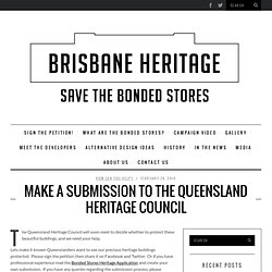 Make a Submission to the Queensland Heritage Council
