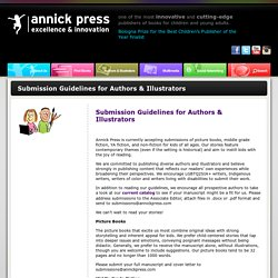 Canadian Book Publisher, Submission Guidelines - Annick Press
