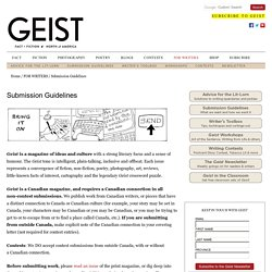 Submission Guidelines - Geist.com