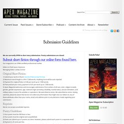 Submission Guidelines – Apex Magazine