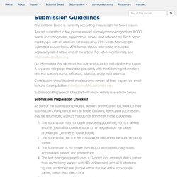 Submission Guidelines – Working Papers in TESOL and Applied Linguistics