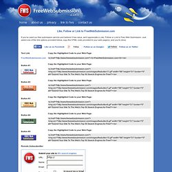 Free Web Submission: Free Search Engine Submission and Site Promotion