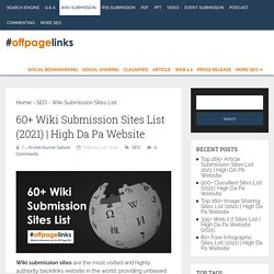 60+ Wiki Submission Sites List (2021)