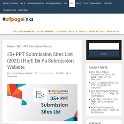 High Da Pa Submission Website - Off Page Links