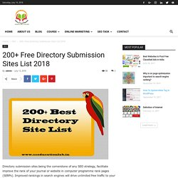 200+ Free Directory Submission Sites List 2018 - SSEDUCATIONLAB