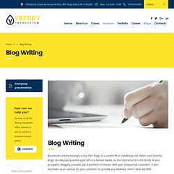 Content Wirting - Yberry Infosystem