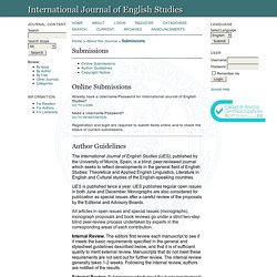 Submissions - The International Journal of English Studies (IJES)