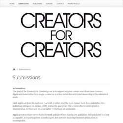Submissions – Creators for Creators