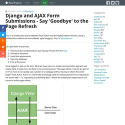 Django and AJAX Form Submissions - say 'goodbye' to the page refresh