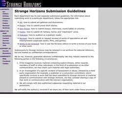Strange Horizons Submissions Guidelines