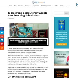 89 Children's Book Literary Agents Now Accepting Submissions